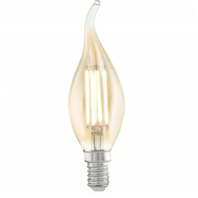 EGLO Vintažo Stiliaus LED Lemputė E14 CF37 Amber 11559