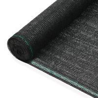 vidaXL Uždanga teniso kortams, juoda, 1,6x50m, HDPE