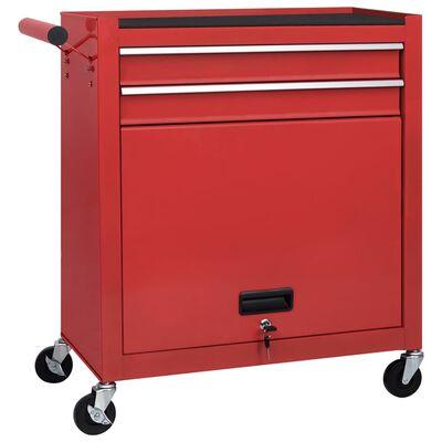 vidaXL Įrankių vežimėlis su įrankiais, 7 lygiai
