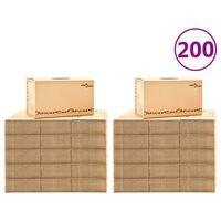 vidaXL Kraustymosi dėžės, 200vnt., 60x33x34cm, XXL (10x30145)