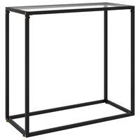 vidaXL Konsolinis staliukas, skaidrus, 80x35x75cm, grūdintas stiklas