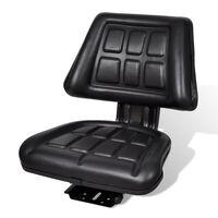 vidaXL Traktoriaus sėdynė su atlošu, juoda