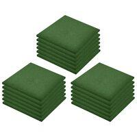 vidaXL Plytelės apsaugai nuo kritimo, 18vnt., žalios, 50x50x3cm, guma