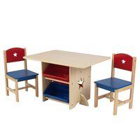 KidKraft Stalo ir 2 kėdžių rinkinys, su žvaigždutėmis