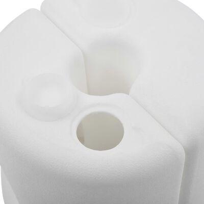 vidaXL Pavėsinės svoriai, 4 vnt, baltos spalvos, PE