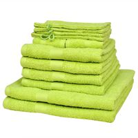 vidaXL 12 Piece Home Towel Set Cotton 500 gsm Apple Green
