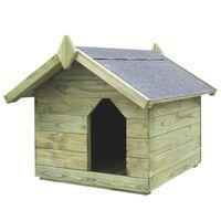 vidaXL Sodo šuns būda su atidaromu stogu, impregnuota pušies med.