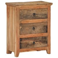 vidaXL Šoninė spintelė, 60x33x75cm, akacija ir perdirbta mediena