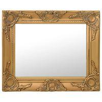 vidaXL Sieninis veidrodis, aukso spalvos, 50x40cm, barokinis stilius