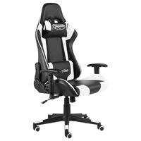 vidaXL Pasukama žaidimų kėdė, baltos spalvos, PVC