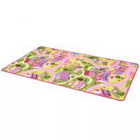 vidaXL Play Mat Loop Pile 133x190 cm Sweet Town Pattern