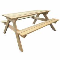 vidaXL Iškylos stalas, 150x135x71,5cm, mediena