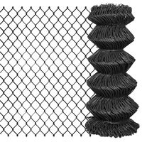 vidaXL Tinklinė tvora, pilka, 15x0,8m, plienas