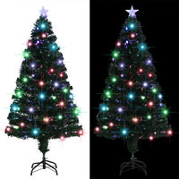 vidaXL Dirbtinė kalėdinė eglutė su stovu, LED, 150 cm