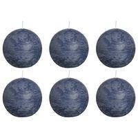 Bolsius Žvakės, 6vnt., tamsiai mėlynos spalvos, 80mm, rutulio formos