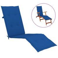 vidaXL Terasos kėdės pagalvėlė, karališka mėlyna, (75+105)x50x4cm