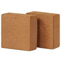 vidaXL Kokoso pluošto blokai, 2vnt., 5kg, 30x30x10cm