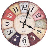 vidaXL Sieninis laikrodis, 30 cm, spalvotas, vintažinio dizaino