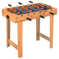 vidaXL Mažas stalo futbolo stalas, klevo spalvos, 69x37x62cm