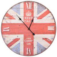vidaXL Sieninis laikrodis, 60cm, vintažinio stiliaus, JK dizaino
