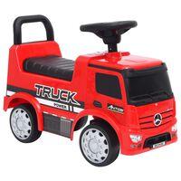 vidaXL Paspiriamas vaikiškas sunkvežimis Mercedes-Benz, raudonas