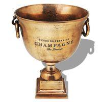 vidaXL Prizo taurės formos šampano atšaldymo indas, varis, rudas