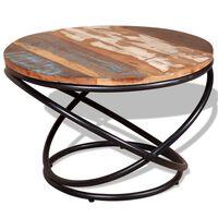 vidaXL Kavos staliukas, perdirbtos medienos masyvas, 60x60x40 cm