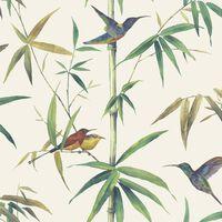 Noordwand Tapetai Kolibri and Bamboo, smėlio spalvos