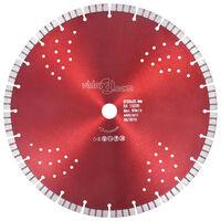 vidaXL Turbo deimantinis pjovimo diskas su angomis, plienas, 350mm