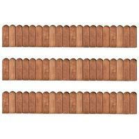 vidaXL Pertvaros ritiniai, 3vnt., 120cm, impregnuota pušies mediena