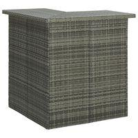 vidaXL Kampinis baro staliukas, pilkas, 100x50x105cm, poliratanas