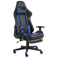 vidaXL Pasukama žaidimų kėdė su pakoja, mėlynos spalvos, PVC