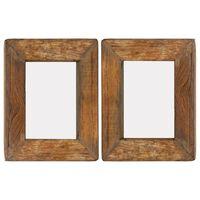 vidaXL Nuotraukų rėmeliai, 2vnt., 23x28cm, medienos masyvas ir stiklas