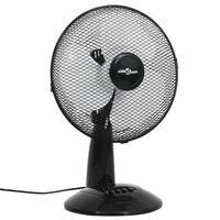 vidaXL Stalinis ventiliatorius, juodas, 30 cm, 3 greičiai, 40 W