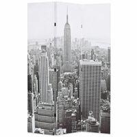 vidaXL Kambario pertvara, juoda ir balta, 120x170cm, Niujorkas dieną
