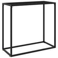 vidaXL Konsolinis staliukas, juodas, 80x35x75cm, grūdintas stiklas