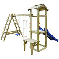vidaXL Vaikų žaidimų aikštelė, 286x228x218cm, mediena