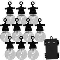 Luxform Sodo šviestuvų vakarėliui rinkinys su 10 LED lempučių Fiji