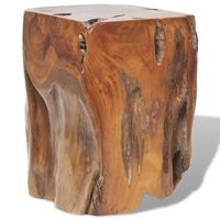vidaXL Taburetė, tikmedžio medienos masyvas