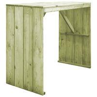 vidaXL Baro stalas, 130x60x110cm, impregnuota pušies mediena