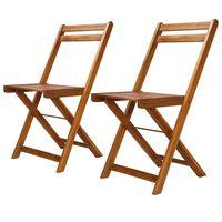 vidaXL Lauko bistro kėdės, 2 vnt., akacijos medienos masyvas