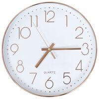vidaXL Sieninis laikrodis, rožinio aukso spalva, 30 cm