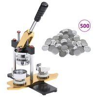 vidaXL Ženkliukų gaminimo aparatas su 500vnt. nugarėlių, 25mm