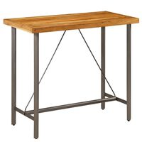 vidaXL Baro stalas, perdirbtas tikmedis, 120x58x106cm