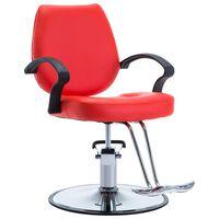 vidaXL Kirpėjo kėdė, dirbtinė oda, raudona