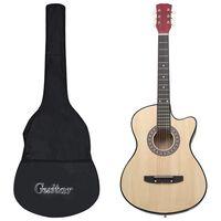 """vidaXL Akustinės gitaros rinkinys, 12 dalių, 38"""", 6 stygos"""