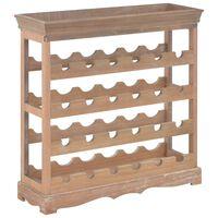 vidaXL Spintelė vynui, rudos spalvos, 70x22,5x70,5cm, MDF