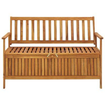 vidaXL Sodo suoliukas-daiktadėžė, 120cm, akacijos medienos masyvas