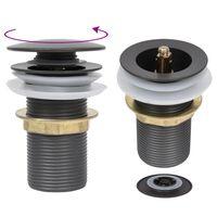 vidaXL Sifono vožtuvas, pilkas, 6,4x6,4x9,1cm