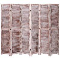 vidaXL Kambario pertvara, 6 dalių, rudos spalvos, 210x165 cm, mediena